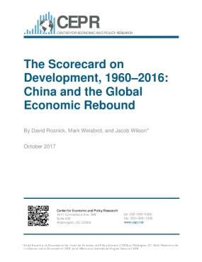 The Scorecard on Development, 1960–2016:  China and the Global Economic Rebound