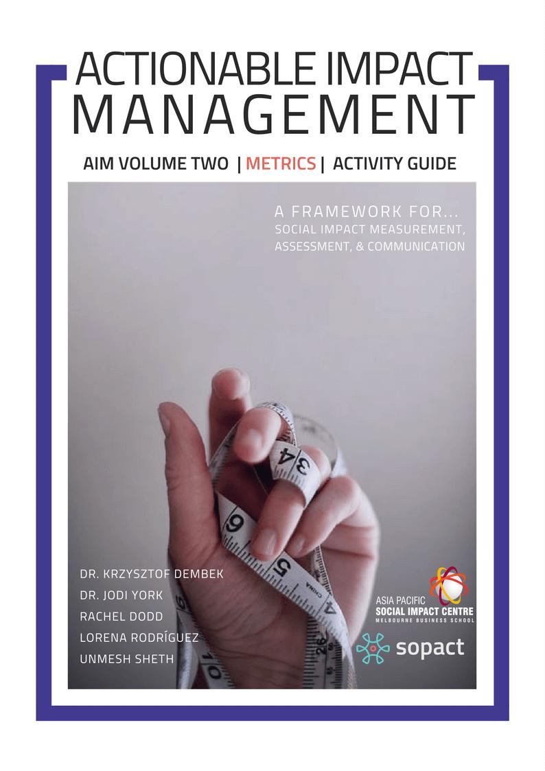 Actionable Impact Management Volume Two: Metrics