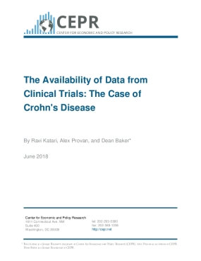 The Availability of Data from Clinical Trials: The Case of Crohn's Disease