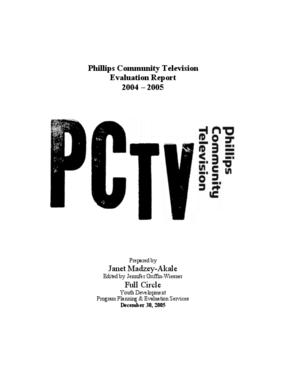 Evaluation Report for Community-Based Youth Media Program