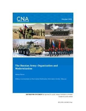 The Russian Army: Organization and Modernization